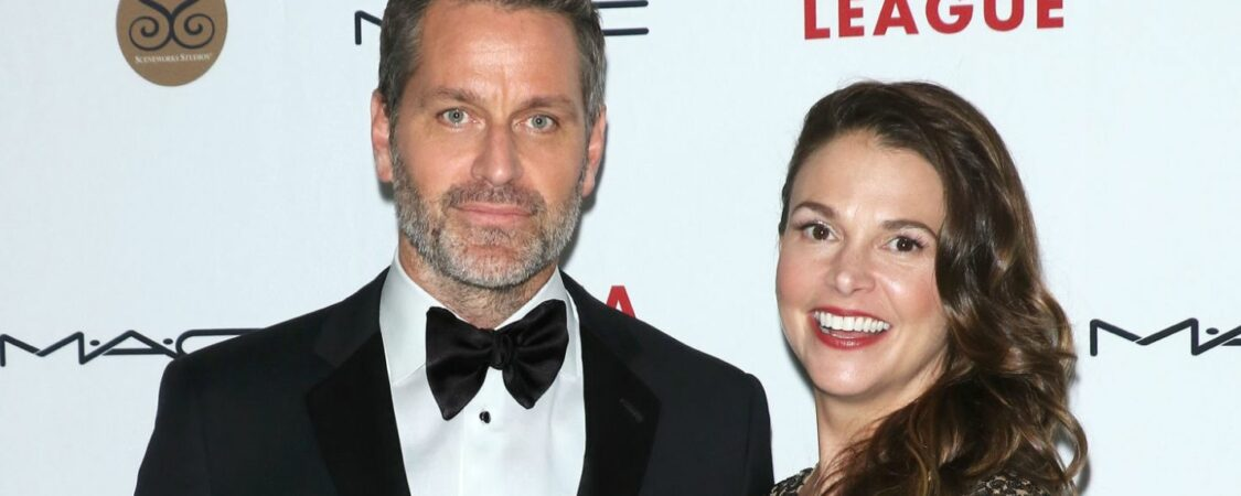 Peter Hermann and Sutton Foster at Drama League's 2019 Annual Benefit Gala
